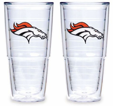 "Denver Broncos Set of TWO 24 oz. ""Big T"" Tervis Tumblers"