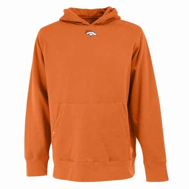 Denver Broncos Mens Signature Hooded Sweatshirt (Color: Orange)