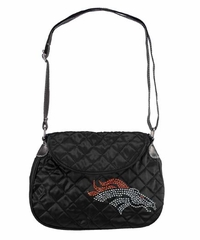 Denver Broncos Sport Noir Quilted Saddlebag