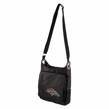 Denver Broncos Sport Noir Sheen Crossbody Bag