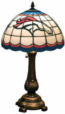 Denver Broncos Stained Glass Table Lamp