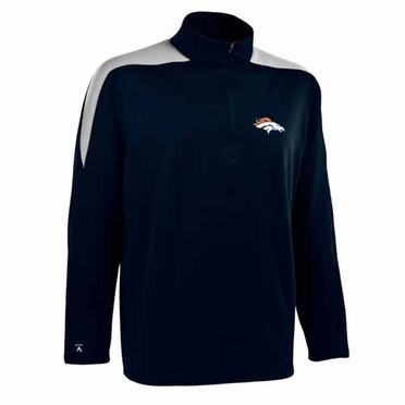 Denver Broncos Mens Succeed 1/4 Zip Performance Pullover (Color: Smoke)