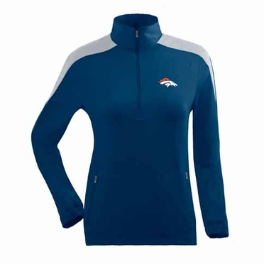 Denver Broncos Womens Succeed 1/4 Zip Performance Pullover (Team Color: Navy)