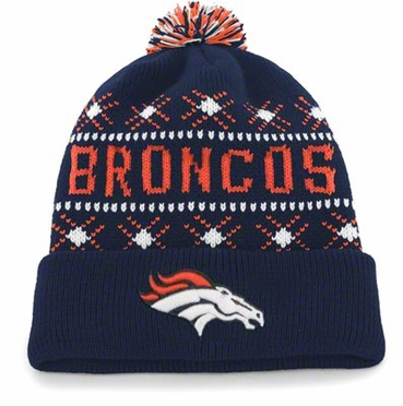 Denver Broncos Tip Off Cuffed Knit Hat