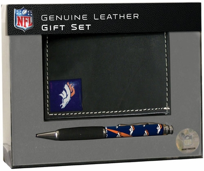 Denver Broncos Tri-Fold Wallet and Pen Set