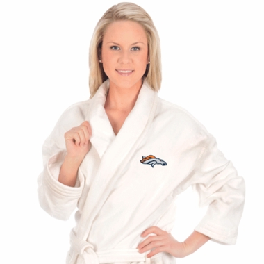 Denver Broncos UNISEX Bath Robe (White)