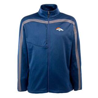 Denver Broncos Mens Viper Full Zip Performance Jacket (Team Color: Navy)