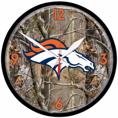 Denver Broncos Wall Clock (Realtree)