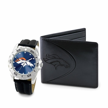 Denver Broncos Watch and Wallet Gift Set