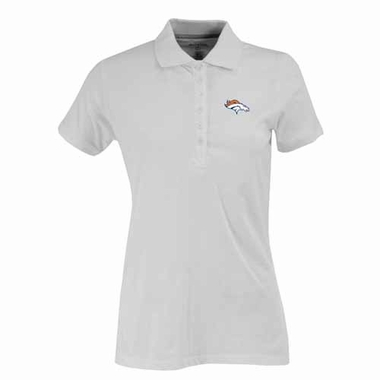 Denver Broncos Womens Spark Polo (Color: White)