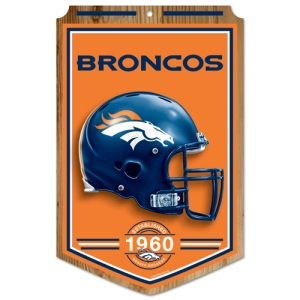 Denver Broncos Wood Sign