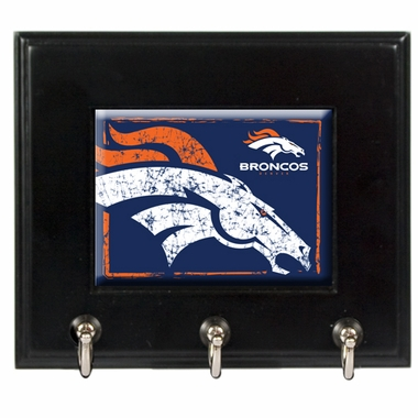 Denver Broncos Wooden Keyhook Rack