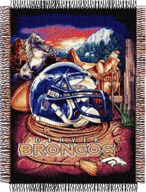 Denver Broncos Woven Tapestry Throw Blanket