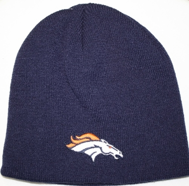 Denver Broncos Youth NFL Uncuffed Knit Hat