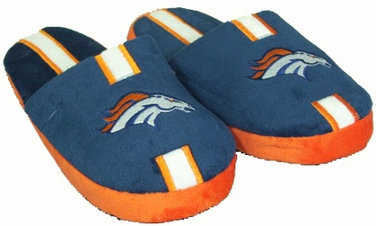 Denver Broncos YOUTH Team Stripe Slide Slippers