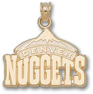 Denver Nuggets 10K Gold Pendant