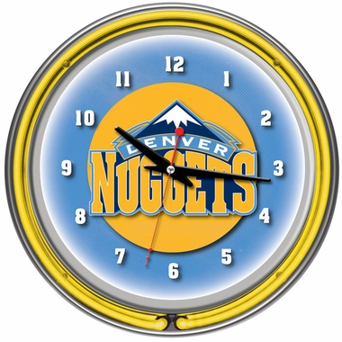 Denver Nuggets 14 Inch Neon Clock