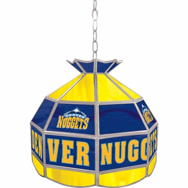 Denver Nuggets 16 Inch Diameter Stained Glass Pub Light