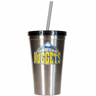 Denver Nuggets 16oz Stainless Steel Insulated Tumbler with Straw
