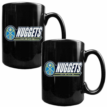 Denver Nuggets 2 Piece Coffee Mug Set (Wordmark)