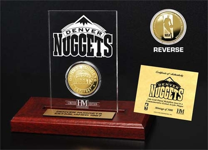 Denver Nuggets Denver Nuggets 24KT Gold Coin Etched Acrylic