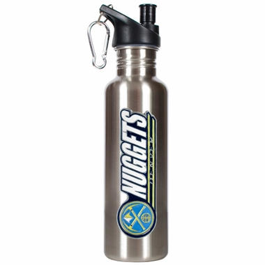 Denver Nuggets 26oz Stainless Steel Water Bottle (Silver)