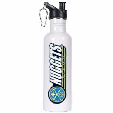 Denver Nuggets 26oz Stainless Steel Water Bottle (White)