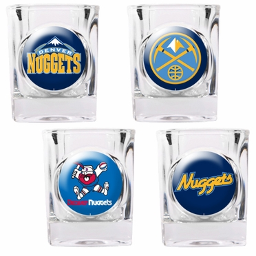Denver Nuggets 4 Piece Assorted Shot Glass Set