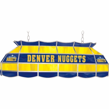 Denver Nuggets 40 Inch Rectangular Stained Glass Billiard Light