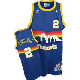 Denver Nuggets Alex English Adidas Team Color Throwback Replica Premiere Jersey - Large