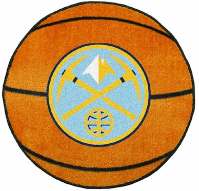 Denver Nuggets Basketball Shaped Rug