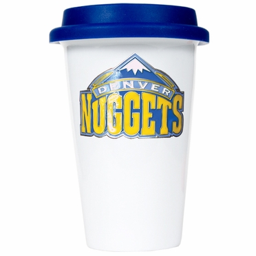 Denver Nuggets Ceramic Travel Cup (Team Color Lid)