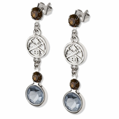Denver Nuggets Crystal Logo Dangle Earrings
