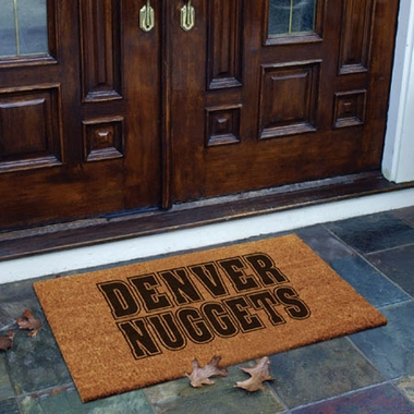 Denver Nuggets Flocked Coir Doormat