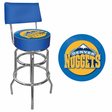 Denver Nuggets Padded Bar Stool with Back