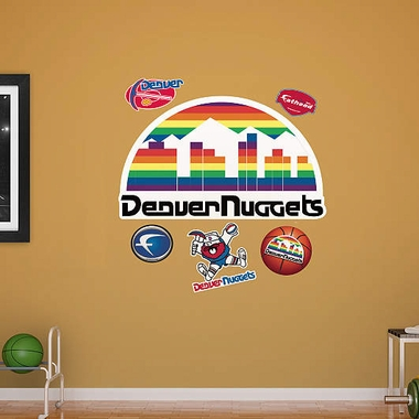 Denver Nuggets Throwback Logo Fathead Wall Graphic
