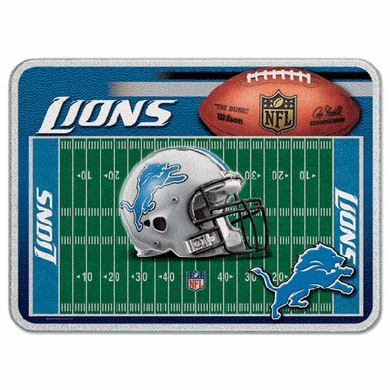 Detroit Lions 11 x 15 Glass Cutting Board