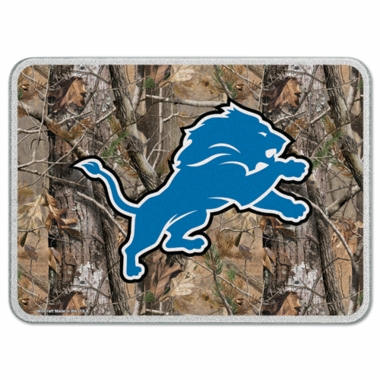 Detroit Lions 11 x 15 Glass Cutting Board (Realtree)