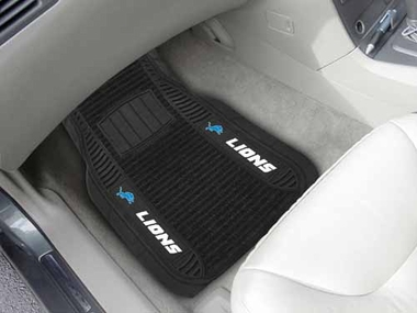Detroit Lions 2 Piece Heavy Duty DELUXE Vinyl Car Mats