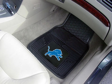 Detroit Lions 2 Piece Heavy Duty Vinyl Car Mats