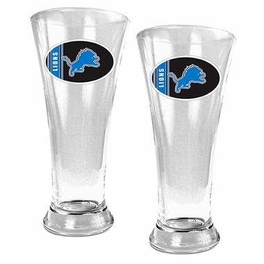 Detroit Lions 2 Piece Pilsner Glass Set