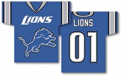 Detroit Lions 2 Sided Jersey Banner Flag (F)