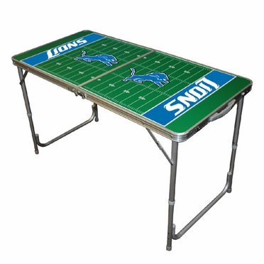 Detroit Lions 2 x 4 Foot Tailgate Table