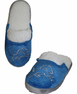 Detroit Lions 2012 Womens Team Color Sherpa Glitter Slippers