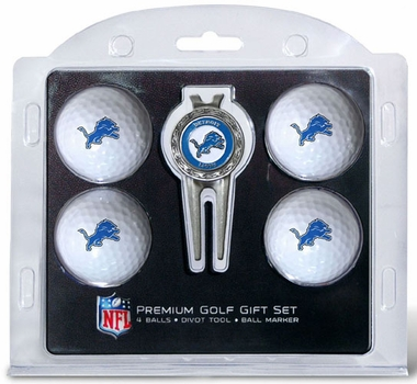Detroit Lions 4 Ball and Tool Gift Set