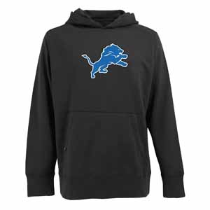 Detroit Lions Big Logo Mens Signature Hooded Sweatshirt (Alternate Color: Black) - XX-Large