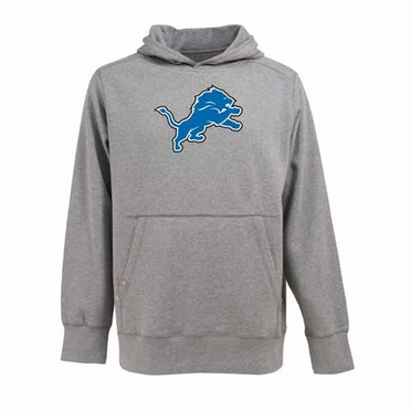Detroit Lions Big Logo Mens Signature Hooded Sweatshirt (Color: Gray)
