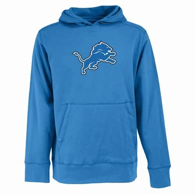 Detroit Lions Big Logo Mens Signature Hooded Sweatshirt (Team Color: Aqua)