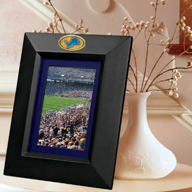 Detroit Lions BLACK Portrait Picture Frame