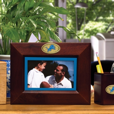 Detroit Lions BROWN Landscape Picture Frame